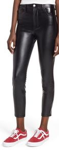 Tinsel skinny faux leather crop pants